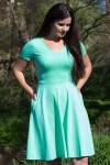 LTD: Bermuda biscay green - Dress