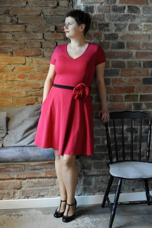 Bermuda bordo-pink - Dress