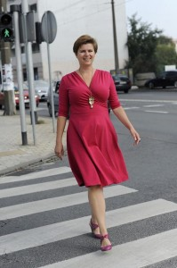 Koperta bordo-pink - Dress