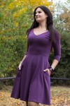 Bermuda 3/4 italian plum - Dress