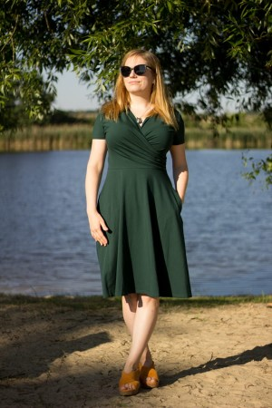 Koperta krótka deep green - Dress