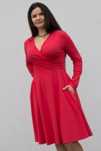 Koperta long tomato red - Dress