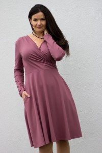 Koperta long rose brown - Dress